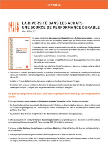 La diversité dans les achats : une source de performance durable (synthèse)