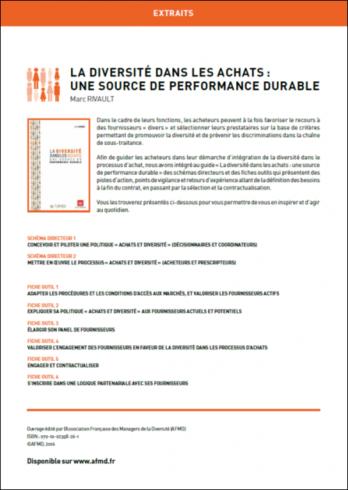 La diversité dans les achats : une source de performance durable (extraits)